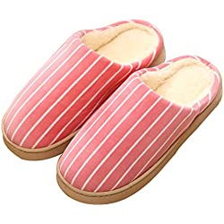 Respeedime Womens Organic Cotton Slippers Indoor Washable Home Shoes