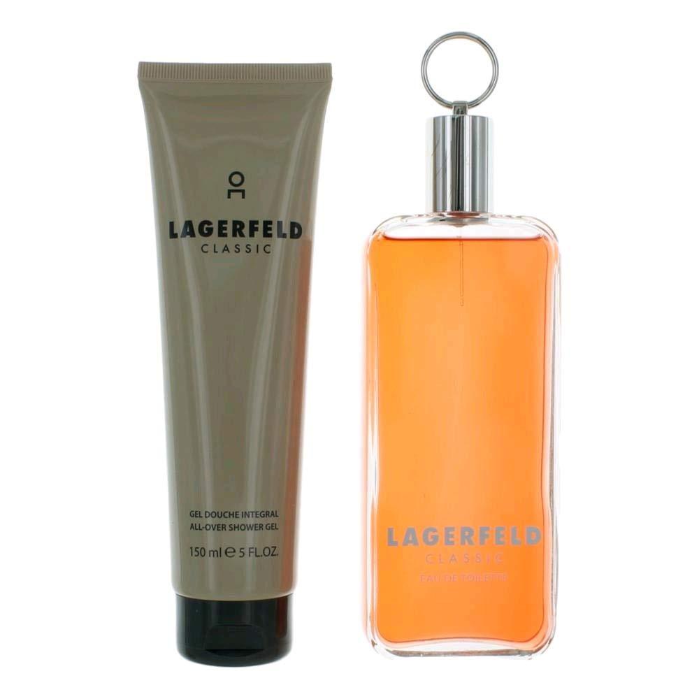 Lagerfeld by Lagerfeld 2 Piece Gift Set - 5.0 Oz Eau De Toilette Spray, 5.0 Oz Shower Gel for Men 5.0 oz