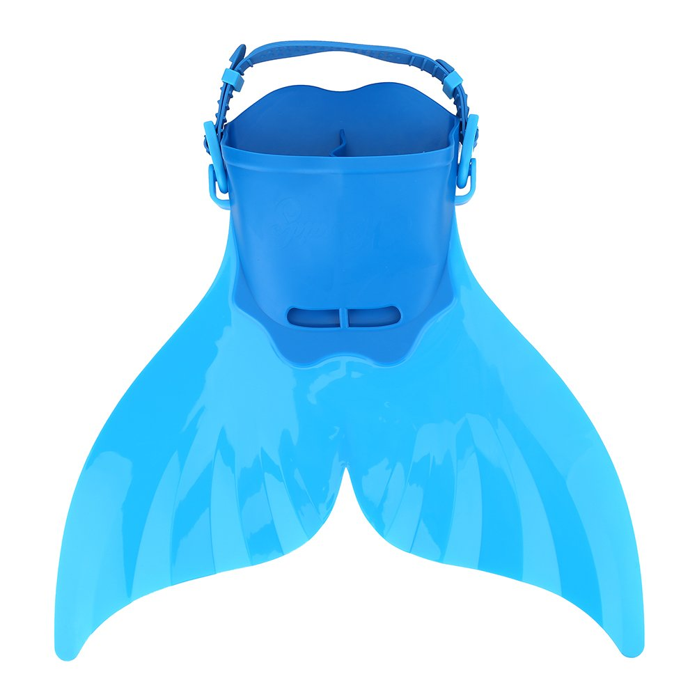 Alomejor Kid Swimming Fin, Children Monofin Flippers Adjustable Diving Mermaid Tails Scuba Foot Training Fin - Limited