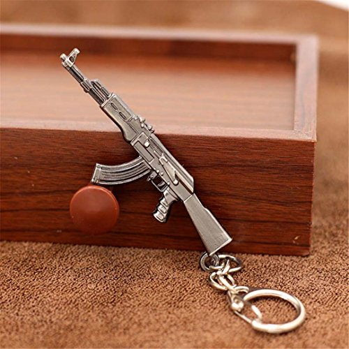 (Kuwoolf Game M16 Novelty Items AK47 Guns Keychain Pendant Trinket M4A1 Sniper Key Chain 10 Styles Jewelry Souvenirs Gift Men-C)