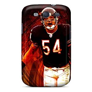 Protective Tpu Case With Fashion Design For Galaxy S3 (chicago Bears)