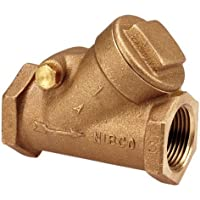 "NIBCO T-413-Y Cast Bronze Check Valve, Silent Check, Class 125, PTFE Seat, 1/2"" Female NPT Thread (FIPT) by Nibco"