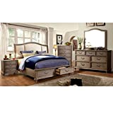 Product review for Norco Transitional Style Rustic Weathered Oak Finish 6-Piece Eastern King Size Bedroom Set