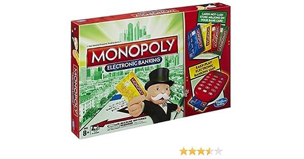 Monopoly juego de cartas electrónico de banca para niños, juego familiar fácil de jugar: Amazon.es: Hogar