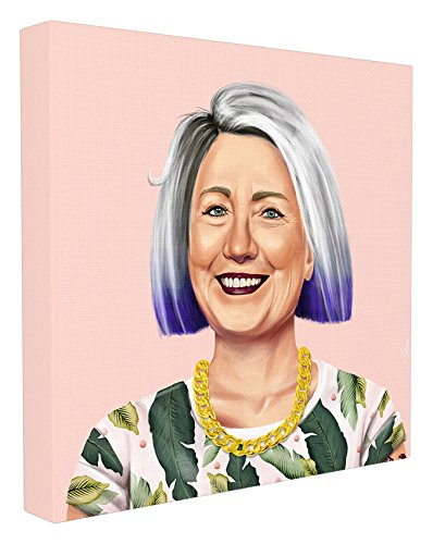 Stupell Home Décor HIPSTORY Hipster Hillary Clinton Stretched Canvas Wall Art, 17 x 1.5 x 17, Proudly Made in USA