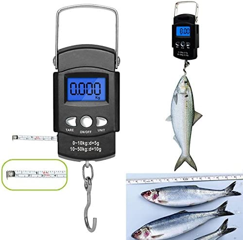 Amtech Portable Fishing Scales With 1 Metre Tape Can Weigh Up To 32 KG 70 LB