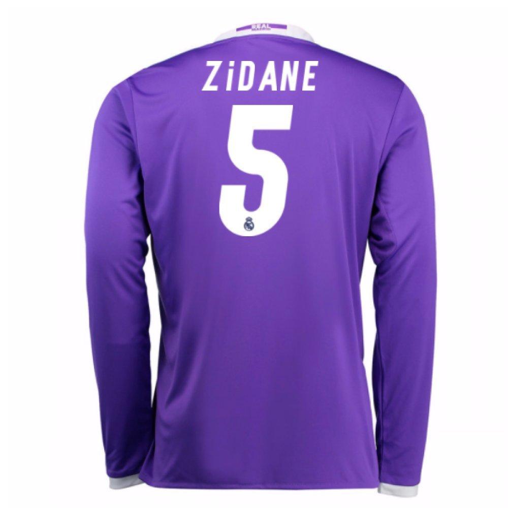 2016-17 Real Madrid Away Shirt (Zidane 5) Kids B077WWJP87Purple Medium Boys 28-30\