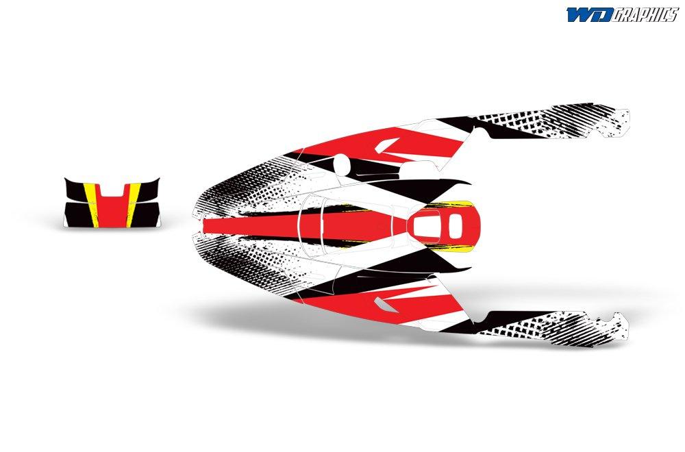Wholesale Decals Yamaha Wave Runner III 1991-1996 Full Custom Jet Ski Graphics Kit Bold Race Design
