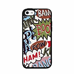 Bang Pow Boom Comic TPU RUBBER SILICONE Phone Case Back Cover iPhone 4 4s