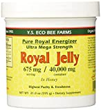 YS Royal Jelly/Honey Bee Pure Royal Energizer - Royal Jelly in Honey - Ultra Mega Strength - 21 oz (Pack of 5)