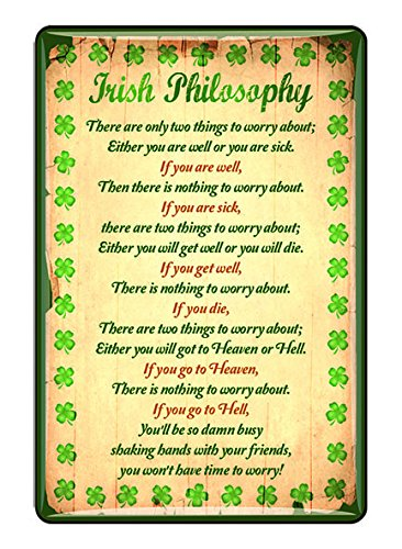 Ireland Epoxy Magnet Irish Philosophy With Green Shamrock Design ()
