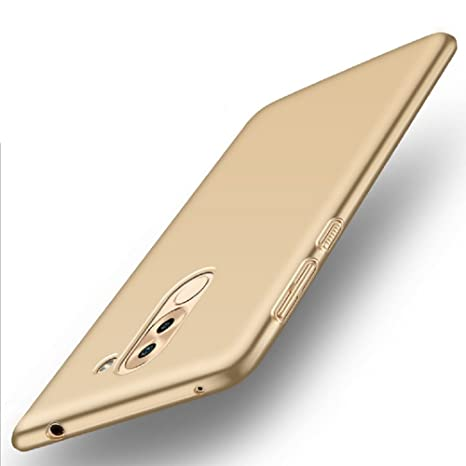 Apanphy Huawei Honor 6X Carcasa, Alta calidad Ultra Slim Hard sedoso Scrub Shell plena protección trasera piel siento cover para Huawei Honor 6X Oro