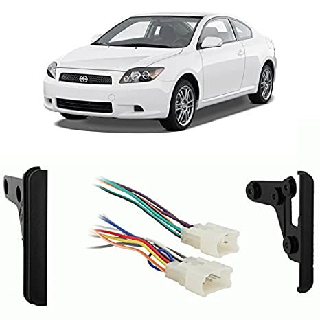 amazon com: fits scion tc 2005-2010 double din aftermarket harness radio  install dash kit: car electronics