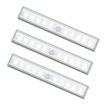Oisee Schrankbeleuchtung LED Sensor licht Unterschrank Automatische LED  Bewegungsmelder Batterie Nachtlicht mit Magnetische 10 LED-Licht für den ...
