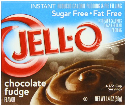 Jell-O Sugar-Free Instant Pudding & Pie Filling, Chocolate Fudge, 1.4-Ounce Boxes (Pack of 24)