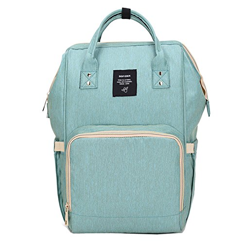 BigForest Multifunction Maternity Mummy Backpack Travel Tote Bag Baby Diaper Nappy Changing Handbag Green
