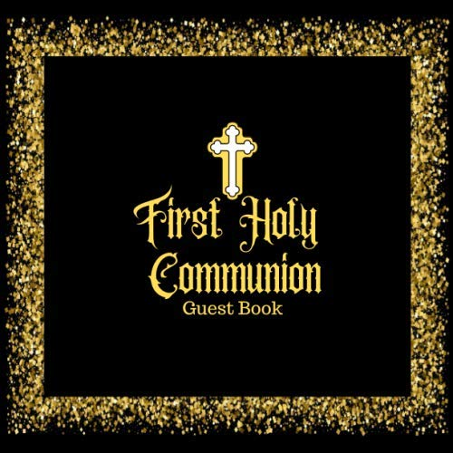 First Communion Photo Invitations - First Holy Communion Guest Book: Keepsake