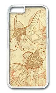 Apple Iphone 6 Case,WENJORS Awesome Vintage Goldfishes Hard Case Protective Shell Cell Phone Cover For Apple Iphone 6 (4.7 Inch) - PC Transparent hjbrhga1544