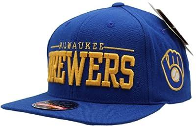 Vintage Milwaukee Brewers Huff Flat Bill Snapback Cap