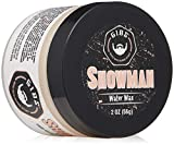 GIBS Grooming Showman Hair Styling Water Wax for Men- Light-Medium Hold - Super High Shine, Product For All Hair Types, 2oz.
