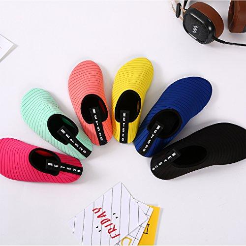 Diving Kids Shoes Skin Surf Mens Drying Swim Rubber Beach Shoes Barefoot Sole Shoes Lightweight Womens Water Aqua Quick Durable Black SxAnw8qCB
