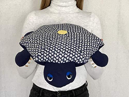 - Stuffed Animal, Stuffed Turtle, FLORAL DARK BLUE