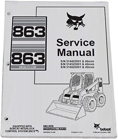 Bobcat 863 863h Skid Steer Servicio completo de tienda Manual – Número de pieza # 6900648: Amazon.es: Coche y moto