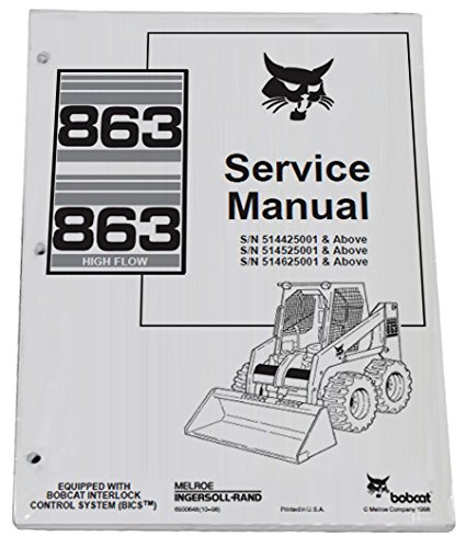 Bobcat 863 863H Skid Steer Complete Shop Service Manual - Part Number # 6900648 by Bobcat (Image #1)