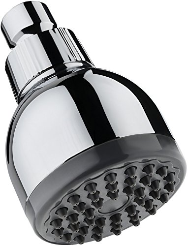 TurboSpa Ultra High Pressure Shower Head w/ Flow Restrictor Melts Stress into Bliss at Full Power. 42 Nozzle Wide Spray High Flow Showerhead Drenches You Fast, No Dry Spots Guaranteed - Chrome Vip Full Kit