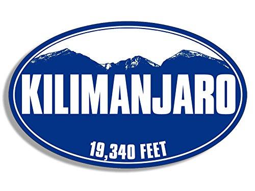 American Vinyl Blue Mountain Oval Kilimanjaro Sticker (Tanzania Mount rv Logo)