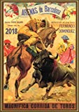 "Wall Calendar 2018 [12 pages 8""x11""] Corrida Spain Bull Show Vintage Travel Poster Ads"