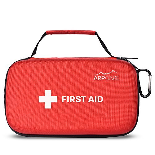Compact First Aid Medical Kit - 121 Piece - Hard Carry Case Perfect for Home, Car, Camping, Office, Travel, Hiking, and Sports - Sporting Dog First Aid Kit