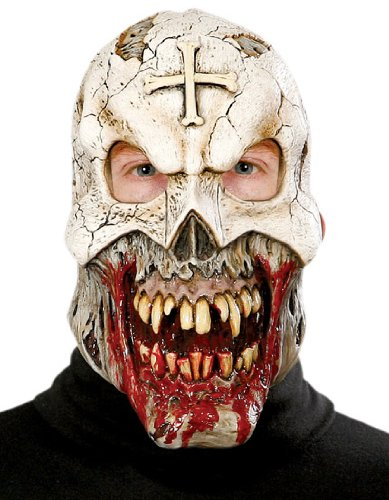 Paper Magic Don Post Voodoo Priest 3/4 Mask Dress, Beige/Gray, One Size ()
