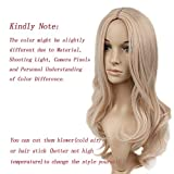 Lady Miranda Blond Mixed Ash Blonde High Density Heat Resistant Synthetic Hair Weave Full Wigs For Women (Blonde&Ash blonde)