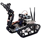 Longruner UNO Project Upgraded Smart Arduino Robot Car Kit with UNO R3 with Manipulator,HD Camera Wireless Upgraded Smart WiFi DS Robot Car kit for Arduino (Old Version)