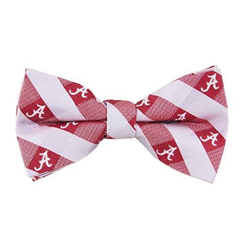 Alabama Crimson Tide Checked Logo Bow Tie - NCAA College Team Logo