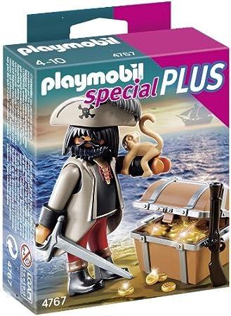 Playmobil Especiales Plus - Pirata con cofre del tesoro (4767) - Pirata con Cofre del Tesoro, Juego de construcción, 10 x 3,5 x 12,5 cm, (4767): Amazon.es: Juguetes y juegos