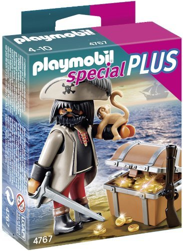 Playmobil Pirates Treasure - PLAYMOBIL Gloomy Pirate with Treasure Chest