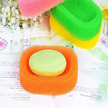 Creative Mesh Sponge Of Soap Box Holders Dish Tray Bathroom BML Brand // Esponja de