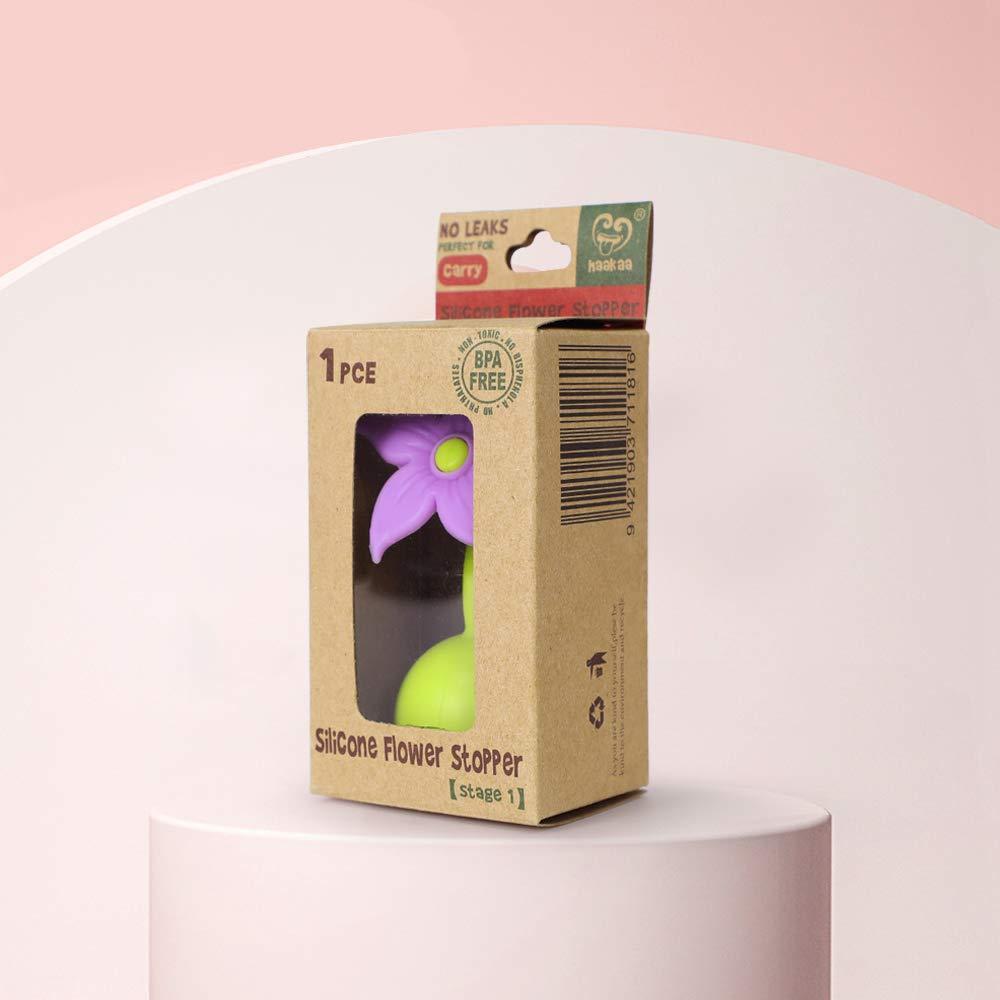 Haakaa Stopper Manuelle Milchpumpe Silikon Blume Stopper 100/% Lebensmittelqualit/ät Silikon BPA PVC und Phthalatfrei 1 St/ück Violett