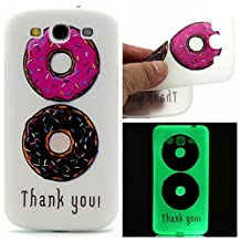 S3 Case, Galaxy S3 Case, SATURCASE Luminous Fluorescent Glow Ultra Thin Soft TPU Gel Silicone Back Case Cover for Samsung Galaxy S3 SIII I9300 (Color-7)