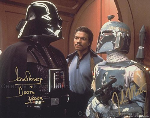 DAVE PROWSE and JOHN MORTON as Darth Vader and Boba Fett - Eminent Wars GENUINE AUTOGRAPHS