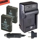 BM Premium (2-Pack) ENEL14, EN-EL14, EN-EL14A Battery and Charger Kit for Nikon Coolpix P7000, P7100, P7700, P7800, D3100, D3200, D3300, D5100, D5200, D5300, D5500, DF Digital SLR Camera