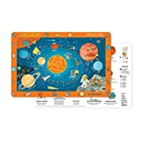 Crocodile Creek Solar System 2-Sided Placemat Children's, Blue, Orange, Red, Yellow