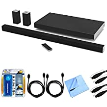 Vizio SB4551-D5 SmartCast 45' 5.1 Sound Bar System w/ Essential Accessory Bundle includes Sound Bar, 2 x 6' Optical Toslink OD Audio Cables, 2 x 6' HDMI Cables, Cleaning Kit and Microfiber Cloth