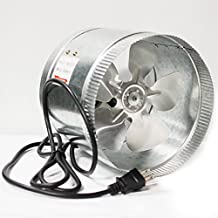iPower GLFANXBOOSTER8 Inline Ducting Booster Fan with Cord, 8-Inch Diameter