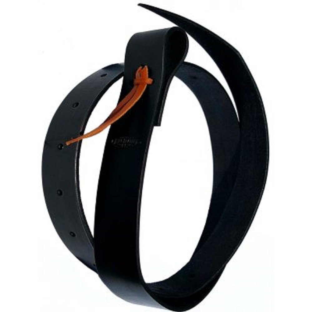 1.8m Black Latigo Leather Saddle Cinch Tie Strap