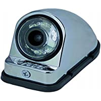 Voyager VCMS50RCM Color CMOS IR LED Camera, Chrome Housing, For the vehicles right side, Machined Aluminum housing, Compact size, IR low light assist, CMOS technology, Corrosion resistant ASTM B117