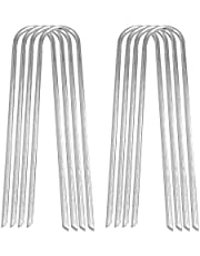 Abimars Trambolin Rüzgar Kazıkları, 8 Parça U Tipi Keskin Uçlar Trambolin Zemin Çapası Galvanizli Çelik, Futbol Kaleleri, Kamp Çadırları ve Dış Mekan Trambolinleri Koruma