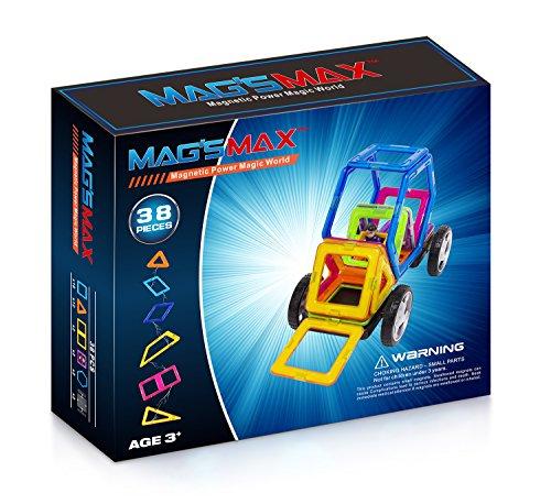 Kinslent 38 Teile Konstruktions Bausteine Spielzeug, BPA Frei, STEM pädagogisches Spielzeug - 3D Konzept pädagogische Lernspiel Set